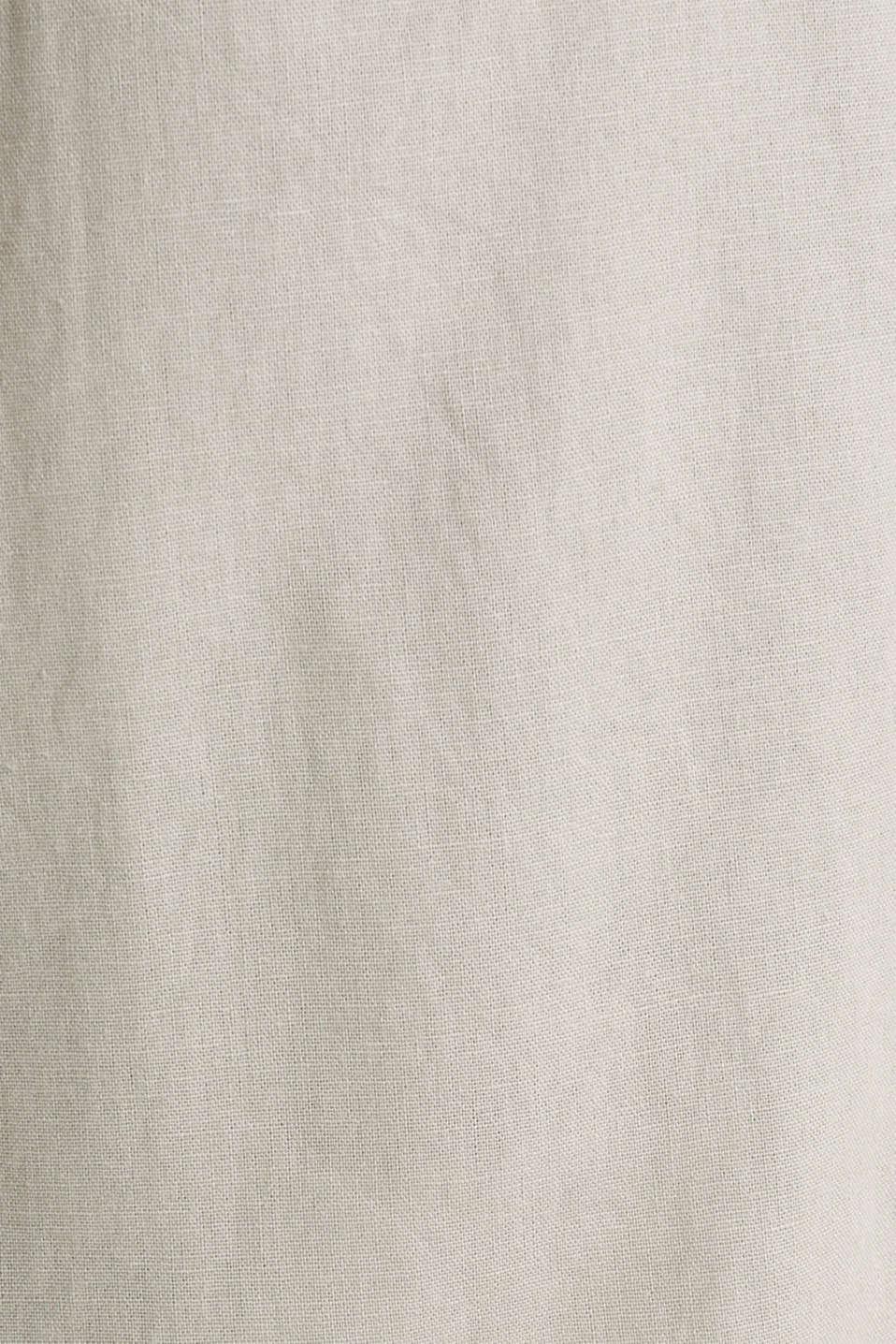 Linen blend: skirt with a button placket, SAND, detail image number 4
