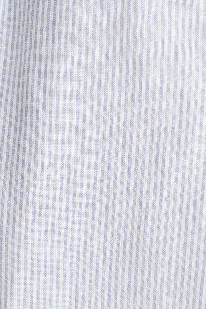 Made of blended linen: striped skirt, LIGHT BLUE, detail image number 4