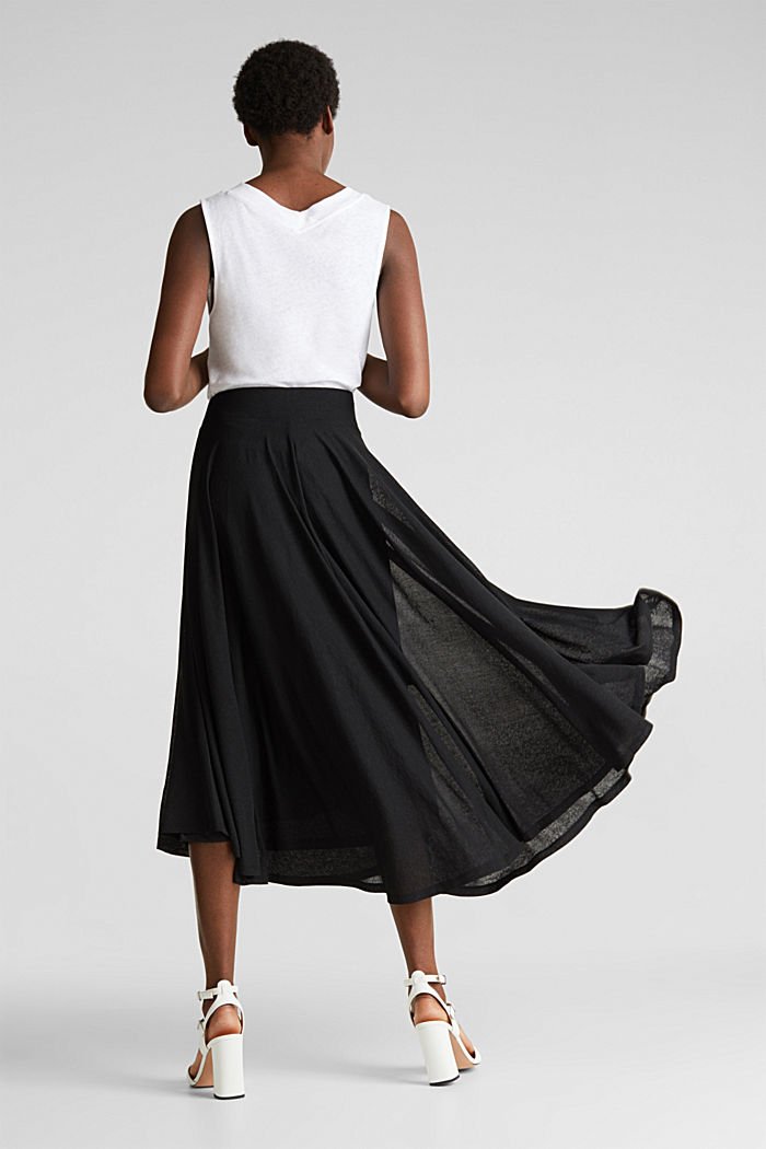 Jersey midi skirt, BLACK, detail image number 3