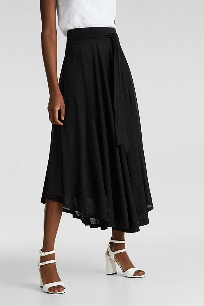 Jersey midi skirt, BLACK, detail image number 5