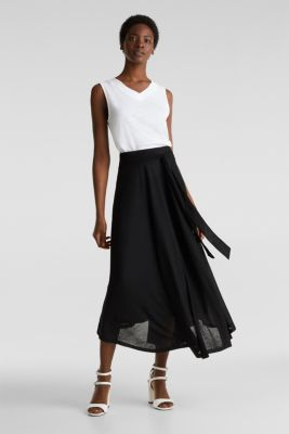 Jersey midi skirt, BLACK, detail