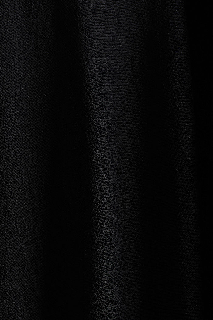 Gonna midi in jersey, BLACK, detail image number 4