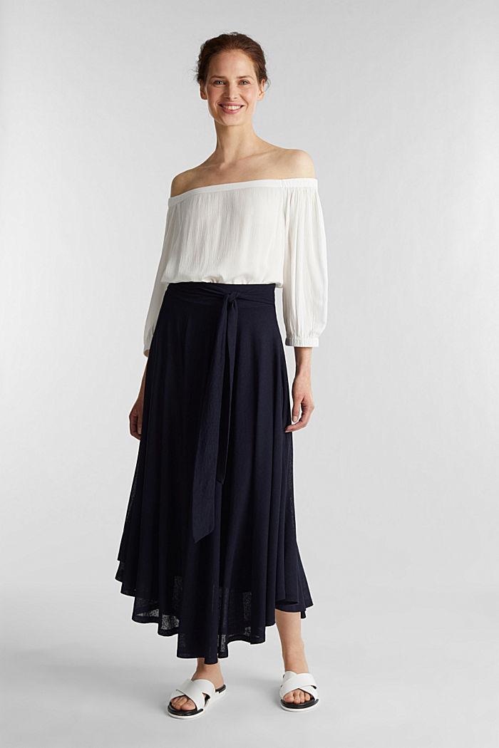 Jersey midi skirt, NAVY, detail image number 0