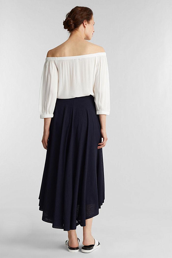 Jersey midi skirt, NAVY, detail image number 3
