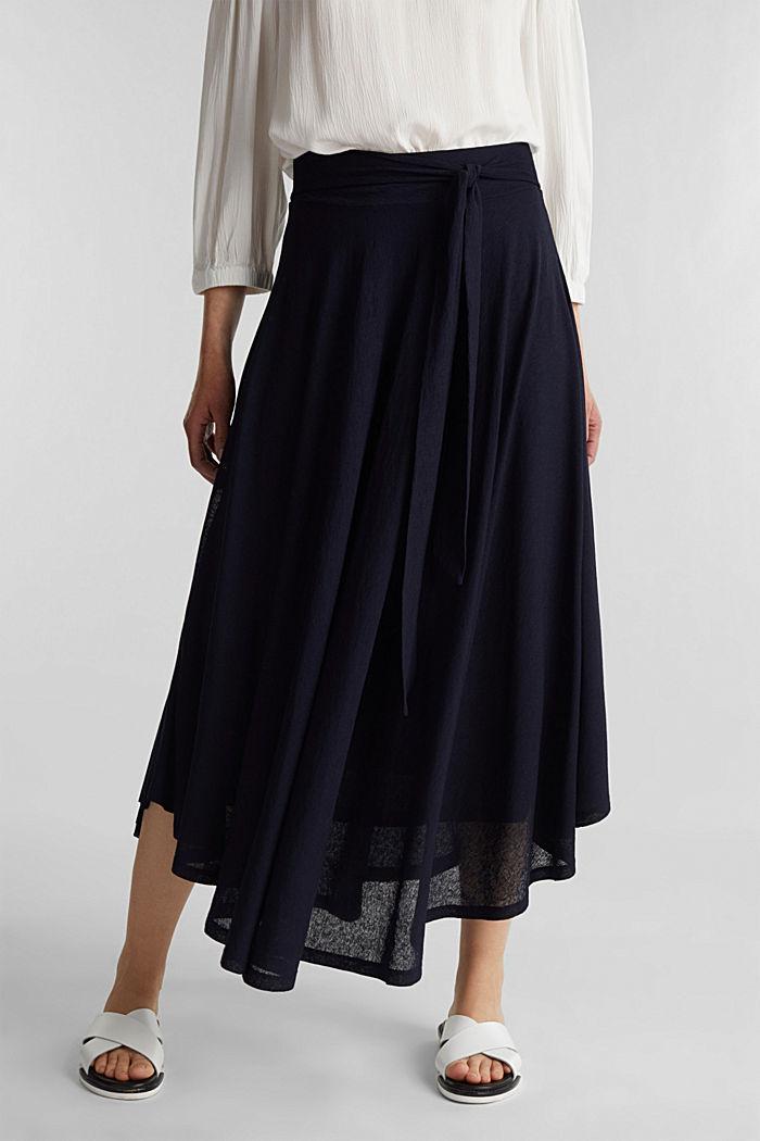 Jersey midi skirt, NAVY, detail image number 6