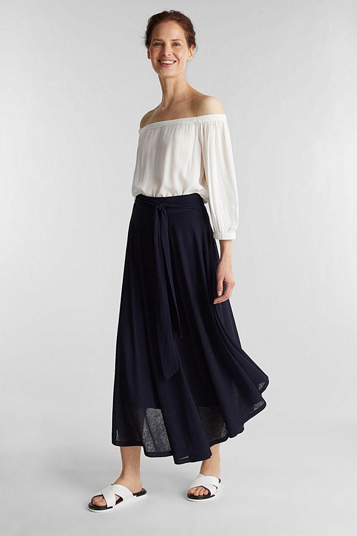 Jersey midi skirt, NAVY, detail image number 1