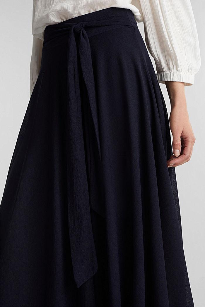 Jersey midi skirt, NAVY, detail image number 2
