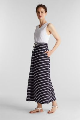 Jersey skirt made of 100% organic cotton, NAVY, detail