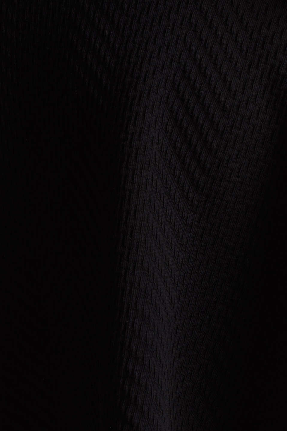 Textured jersey skirt, 100% cotton, BLACK, detail image number 4