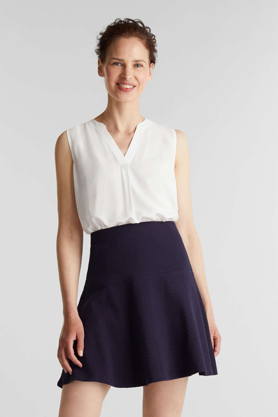 Jersey skirt made of 100% cotton, NAVY, detail image number 0