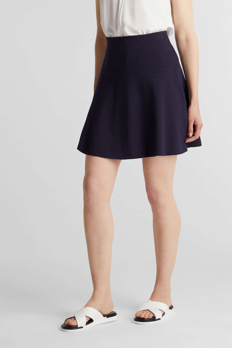 Jersey skirt made of 100% cotton, NAVY, detail image number 5