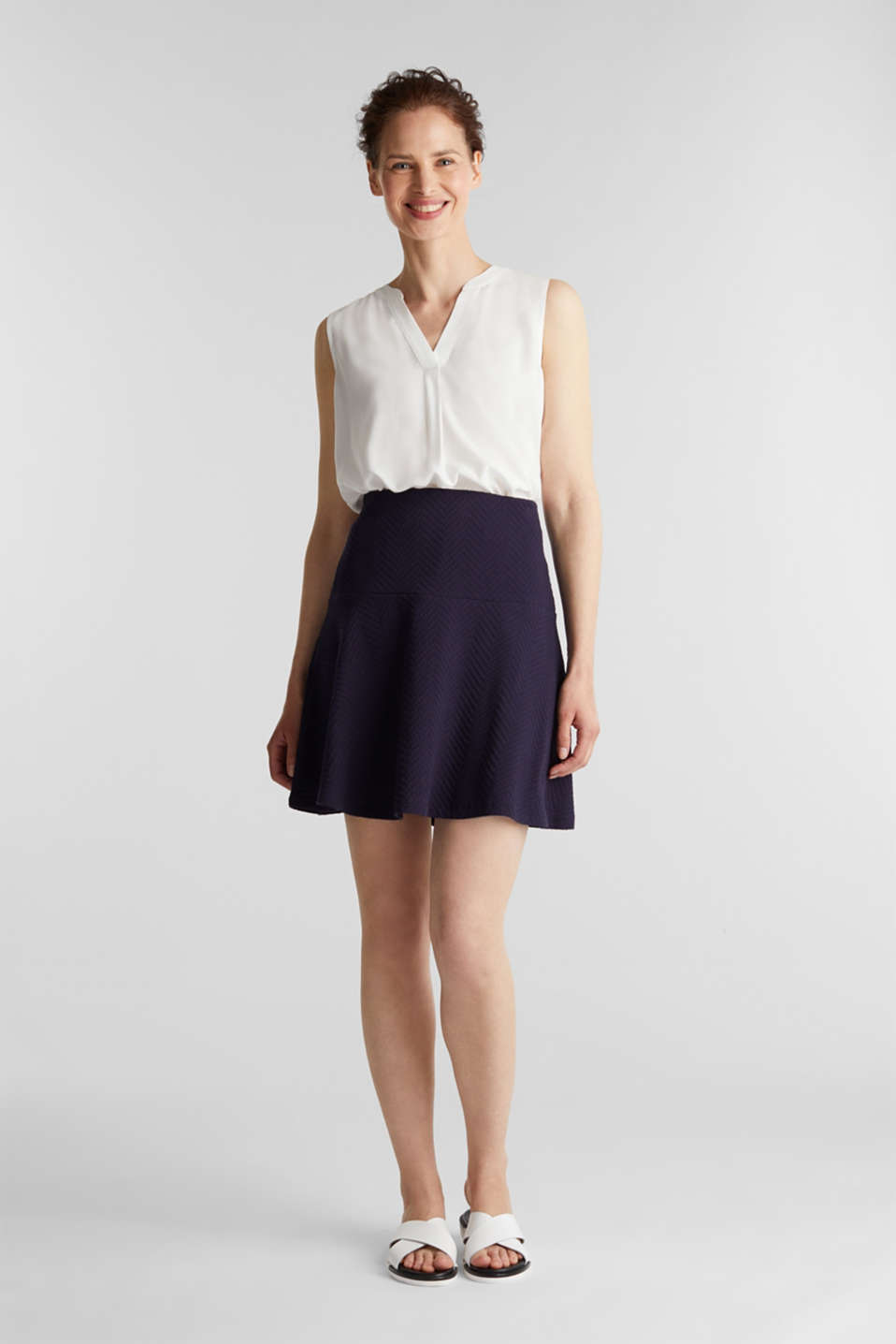Jersey skirt made of 100% cotton, NAVY, detail image number 1