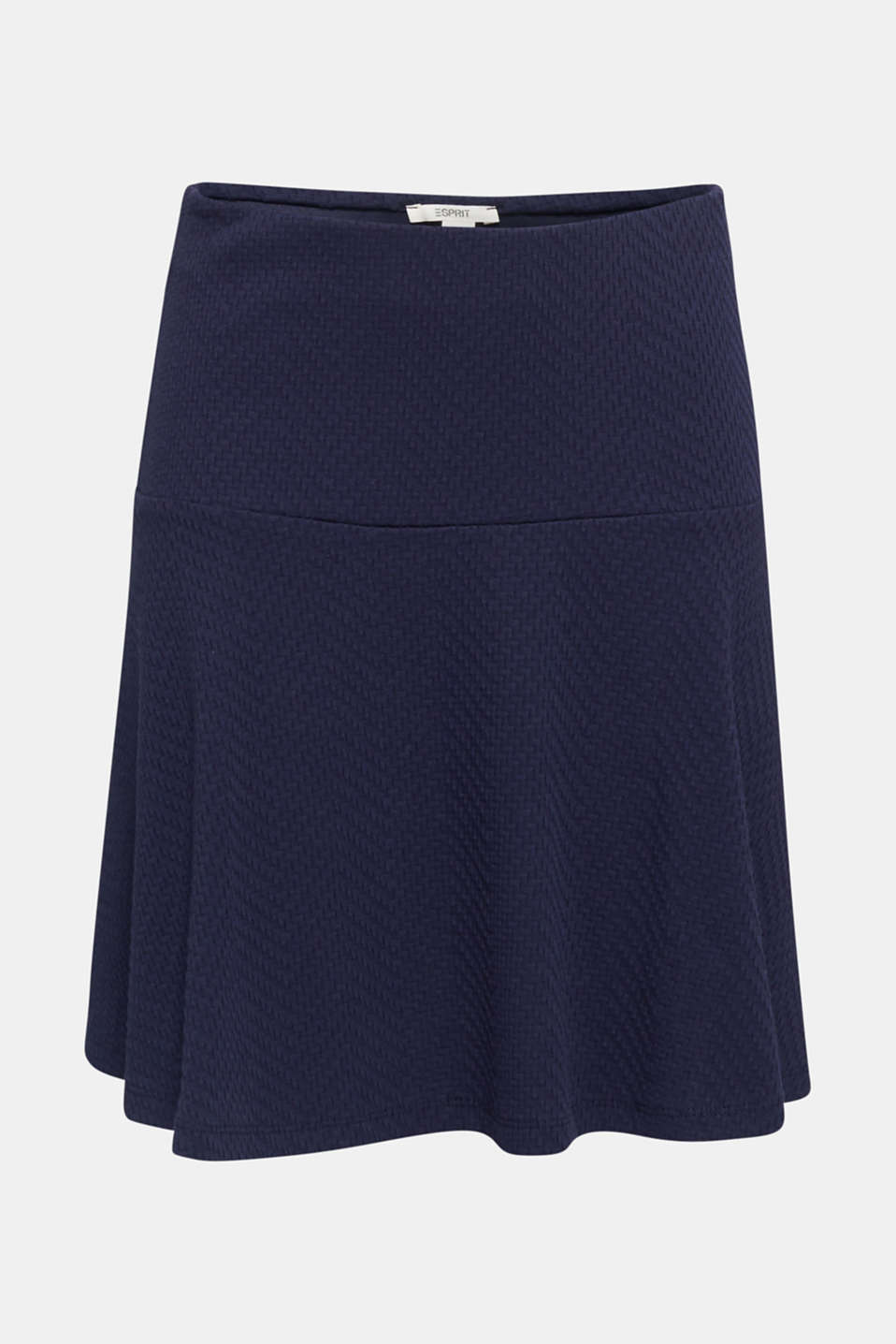 Jersey skirt made of 100% cotton, NAVY, detail image number 6