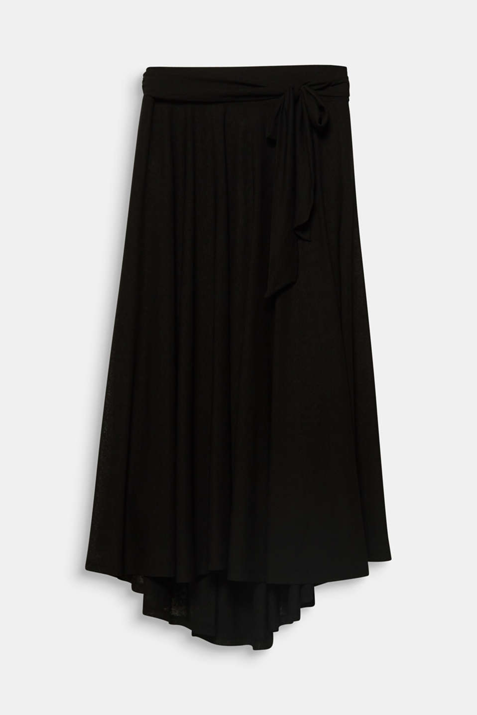 CURVY A-line jersey skirt, BLACK, detail image number 6