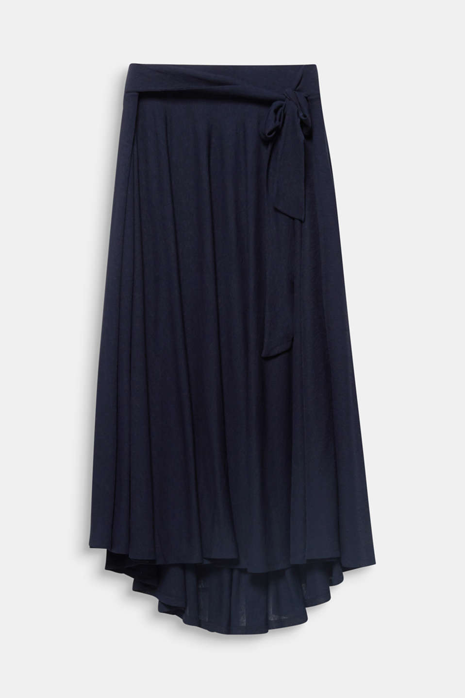 CURVY A-line jersey skirt, NAVY, detail image number 5