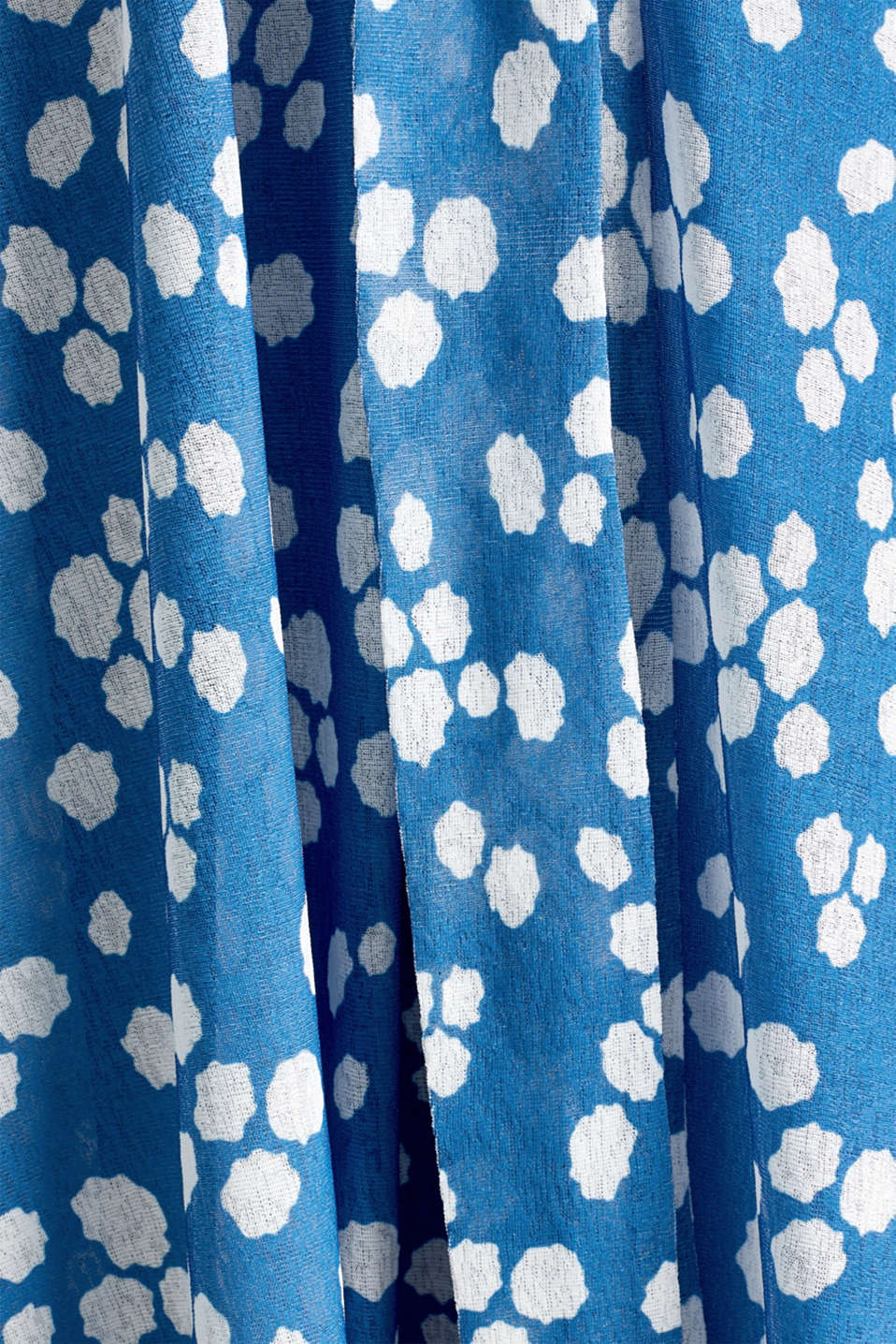 Midi jersey skirt with an all-over print, BRIGHT BLUE, detail image number 4