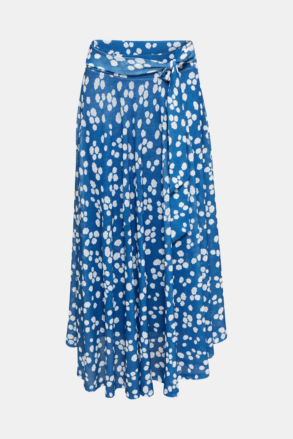 Midi jersey skirt with an all-over print, BRIGHT BLUE, detail image number 6