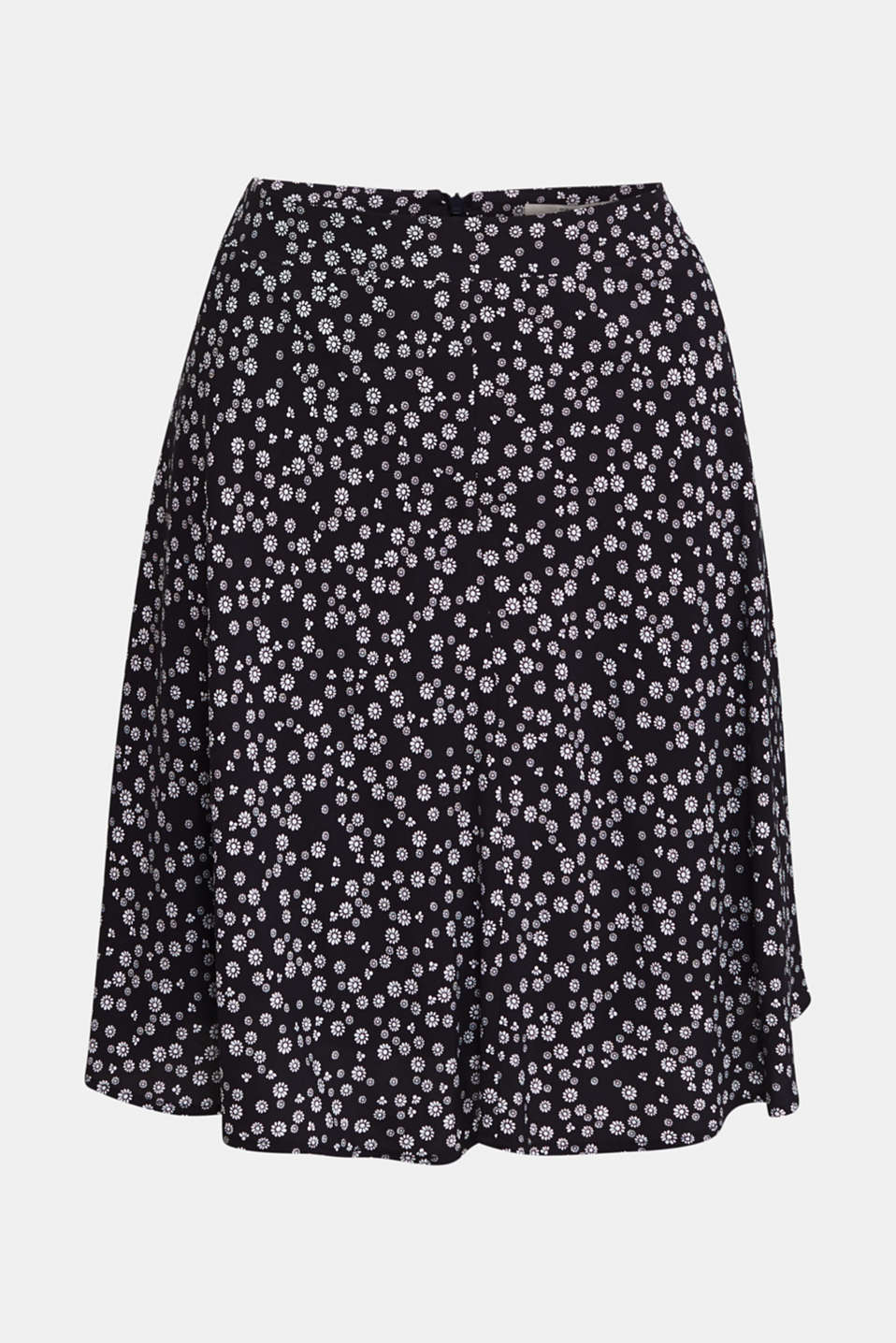 Printed skirt made of LENZING™ ECOVERO™, NAVY 4, detail image number 6