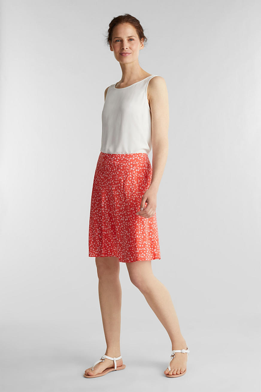 Printed skirt made of LENZING™ ECOVERO™