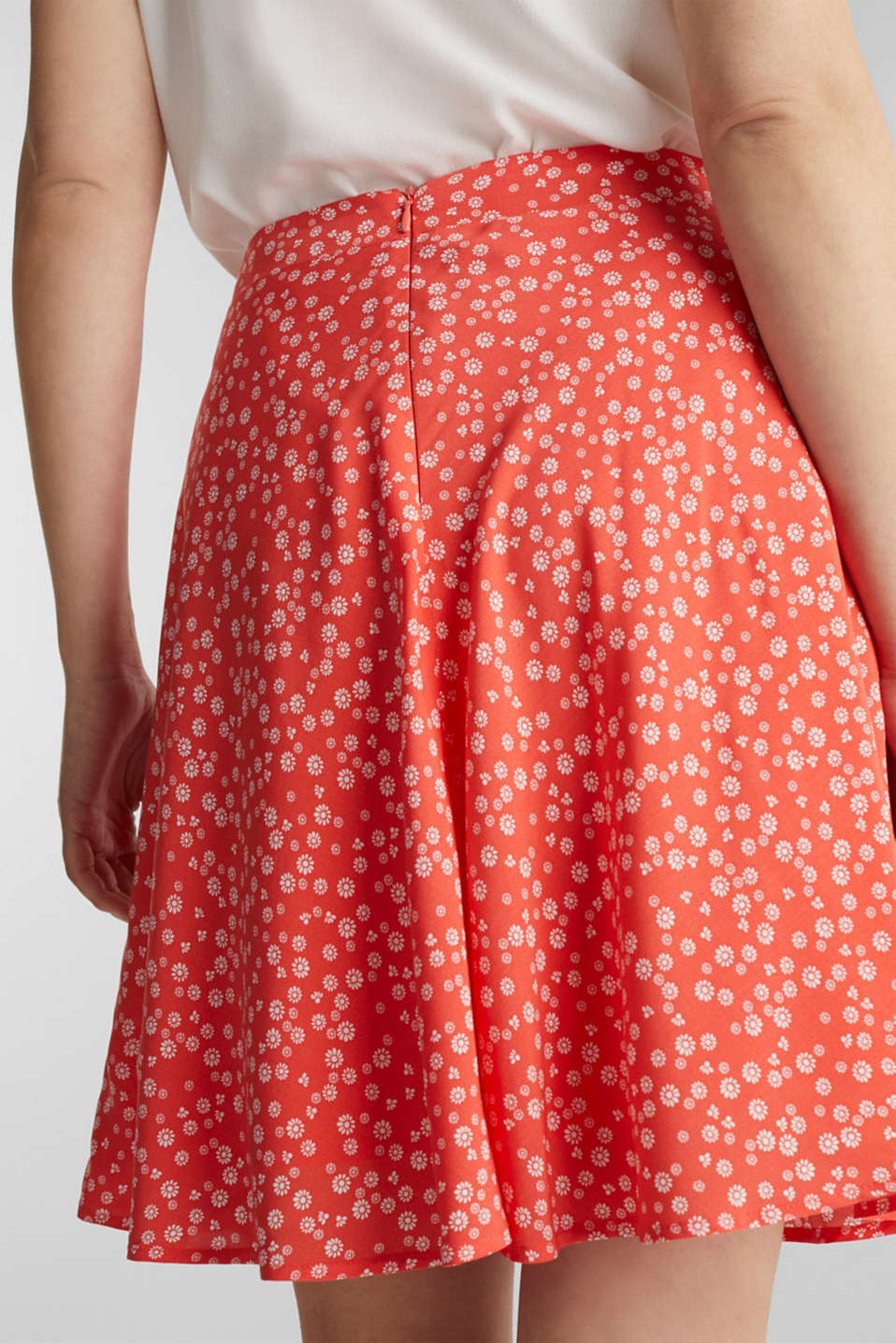 Printed skirt made of LENZING™ ECOVERO™, CORAL 4, detail image number 2