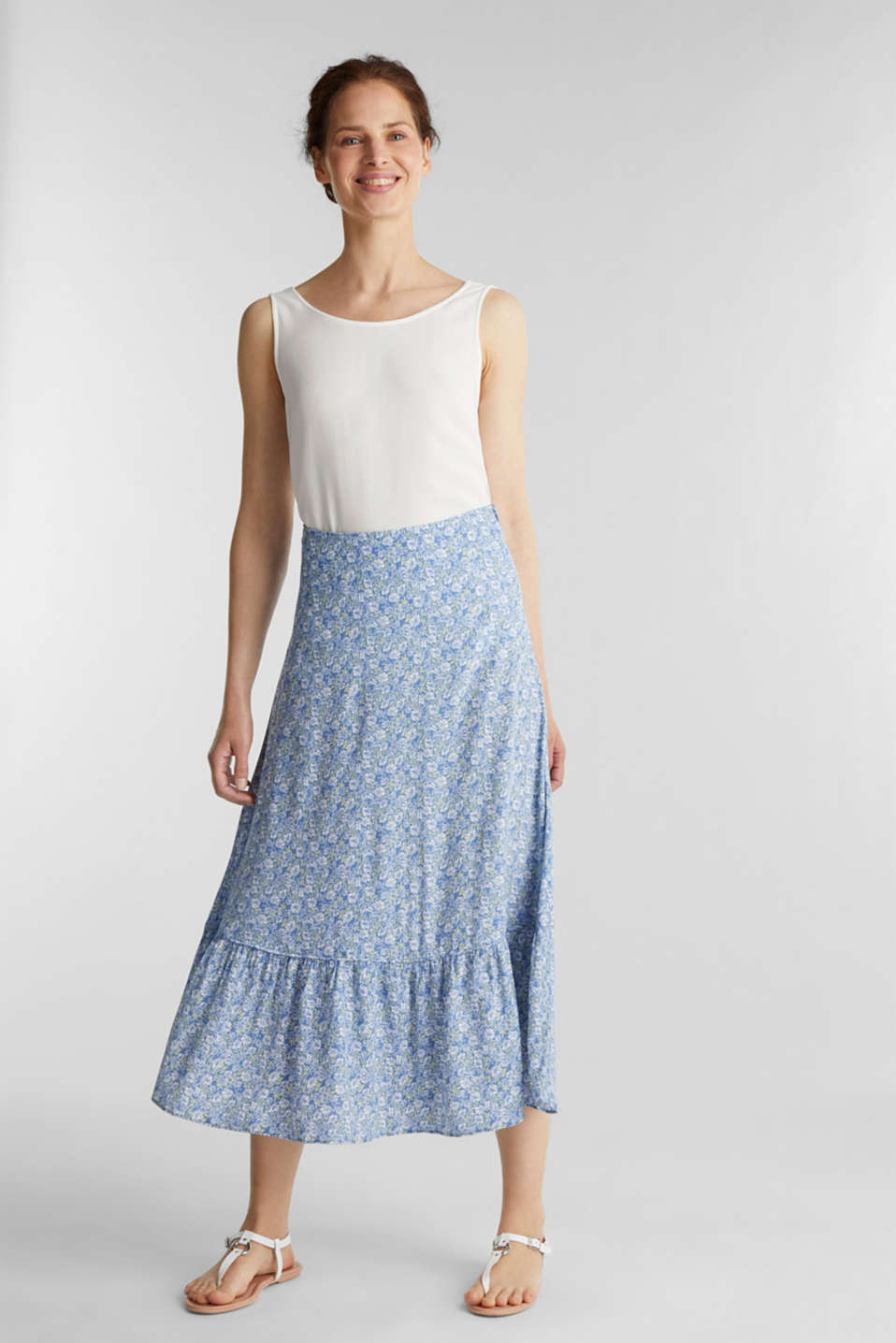 Esprit - Midi skirt made of LENZING™ ECOVERO™