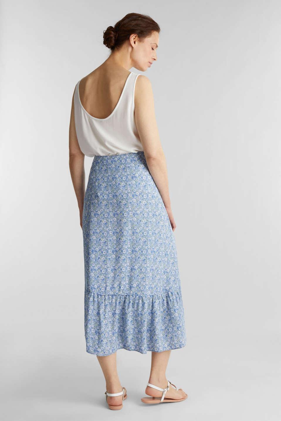 Midi skirt made of LENZING™ ECOVERO™, BRIGHT BLUE 4, detail image number 3