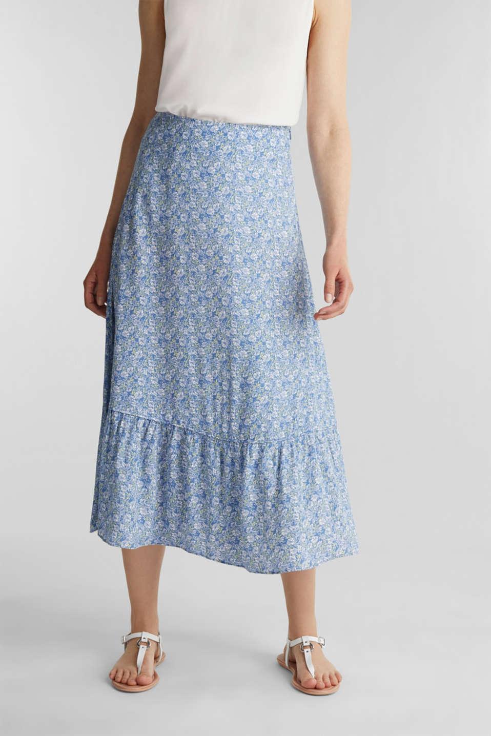 Midi skirt made of LENZING™ ECOVERO™, BRIGHT BLUE 4, detail image number 6