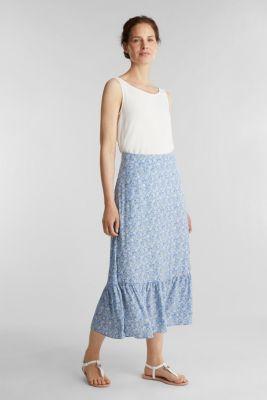 Midi skirt made of LENZING™ ECOVERO™, BRIGHT BLUE 4, detail