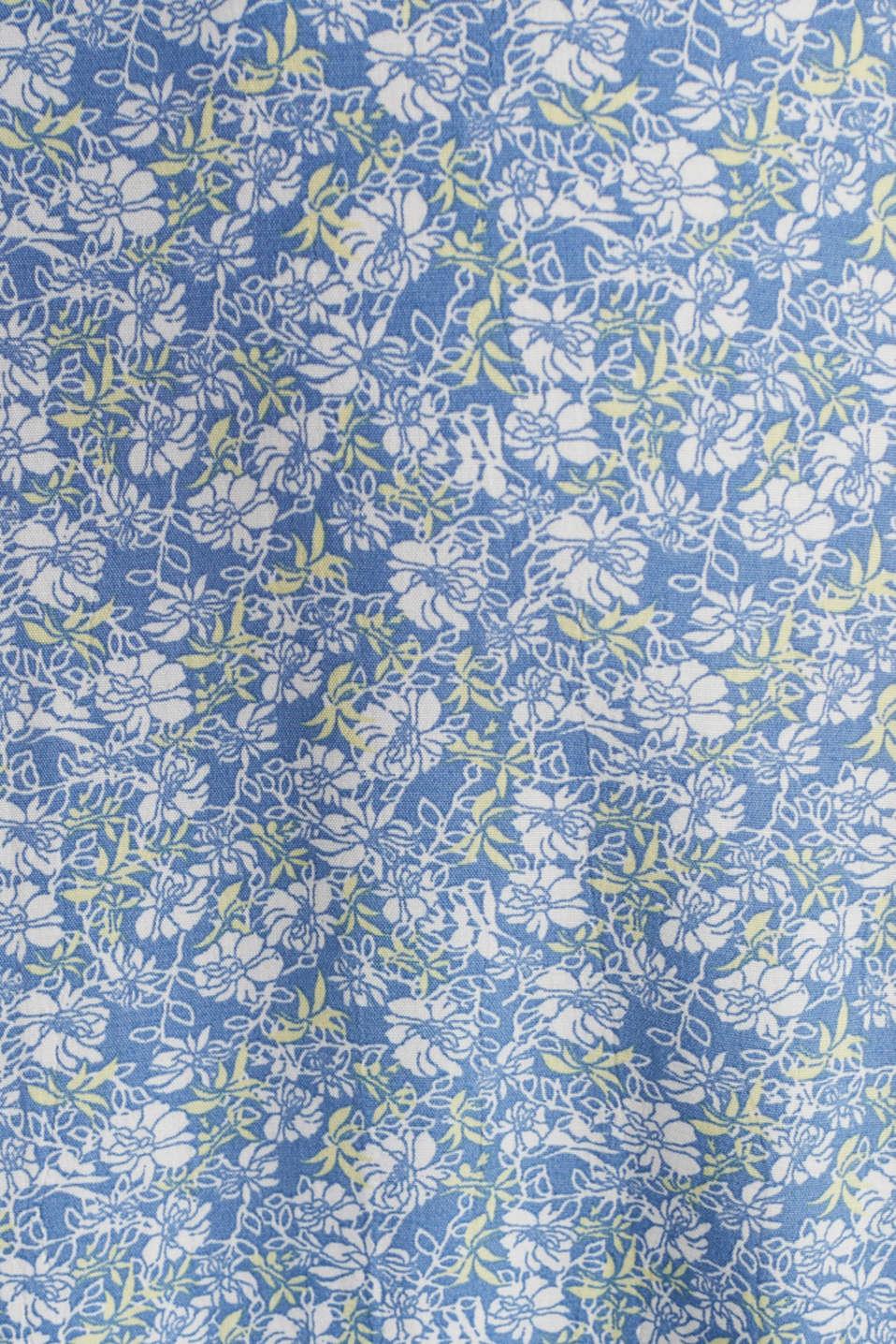 Midi skirt made of LENZING™ ECOVERO™, BRIGHT BLUE 4, detail image number 4