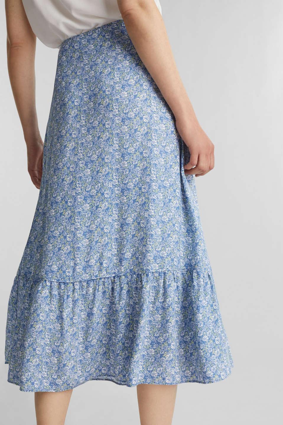 Midi skirt made of LENZING™ ECOVERO™, BRIGHT BLUE 4, detail image number 5