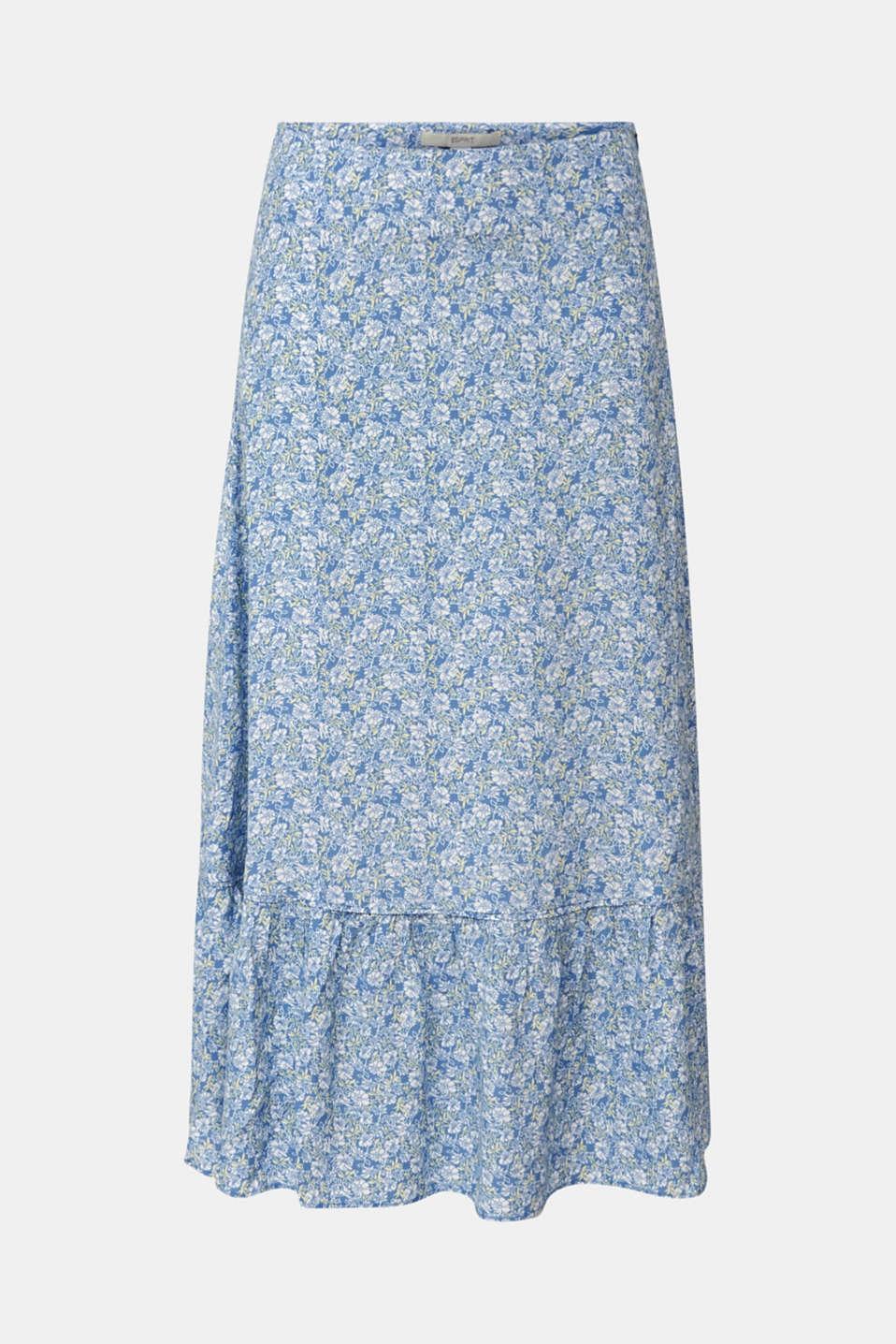 Midi skirt made of LENZING™ ECOVERO™, BRIGHT BLUE 4, detail image number 7