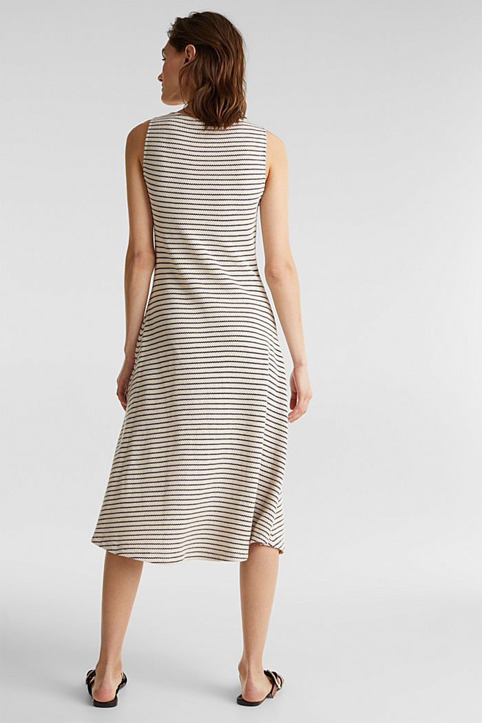 Jersey dress with textured stripes, SAND, detail image number 2