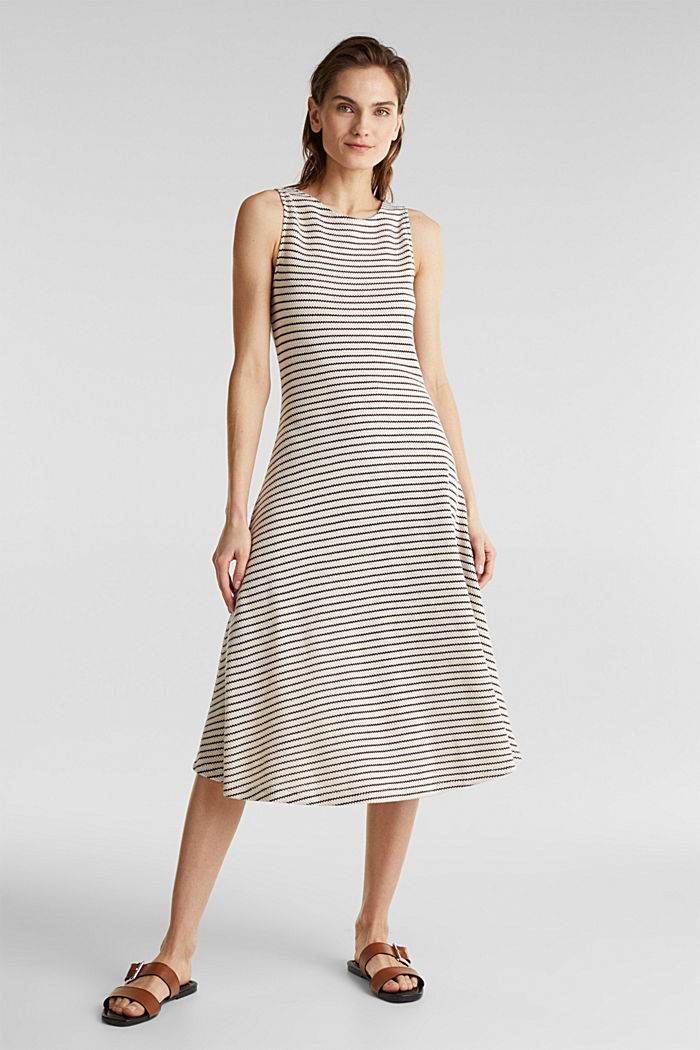 Jersey dress with textured stripes, SAND, detail image number 1