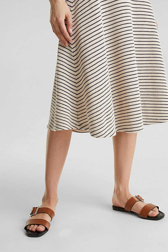 Jersey dress with textured stripes, SAND, detail image number 4