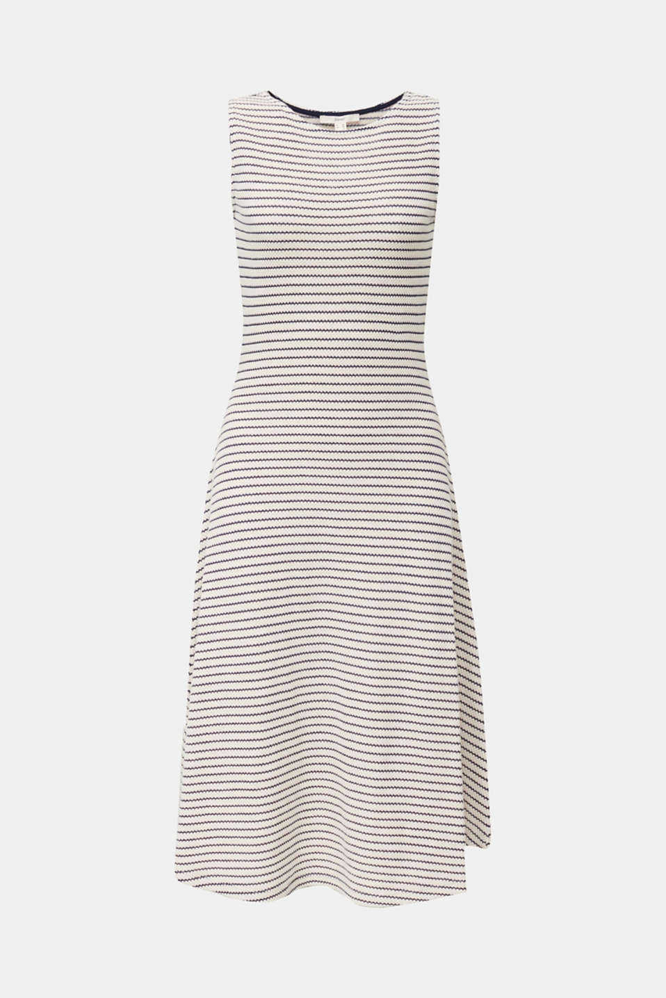 Jersey dress with textured stripes, SAND, detail image number 5