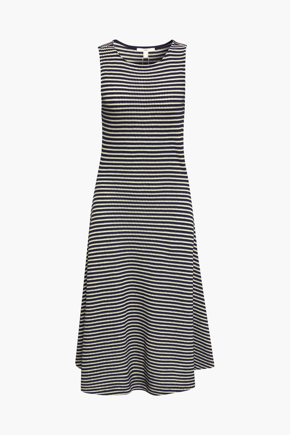 Jersey dress with textured stripes, NAVY, detail image number 5