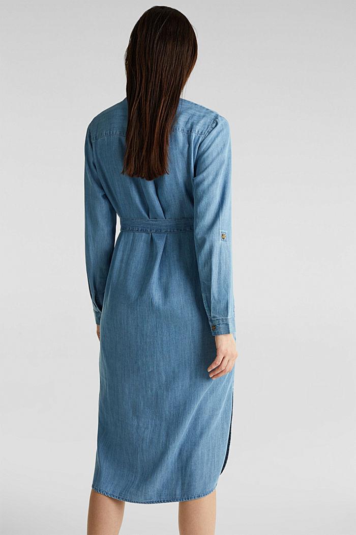 Aus TENCEL™: Kleid im Denim-Look, BLUE LIGHT WASHED, detail image number 2