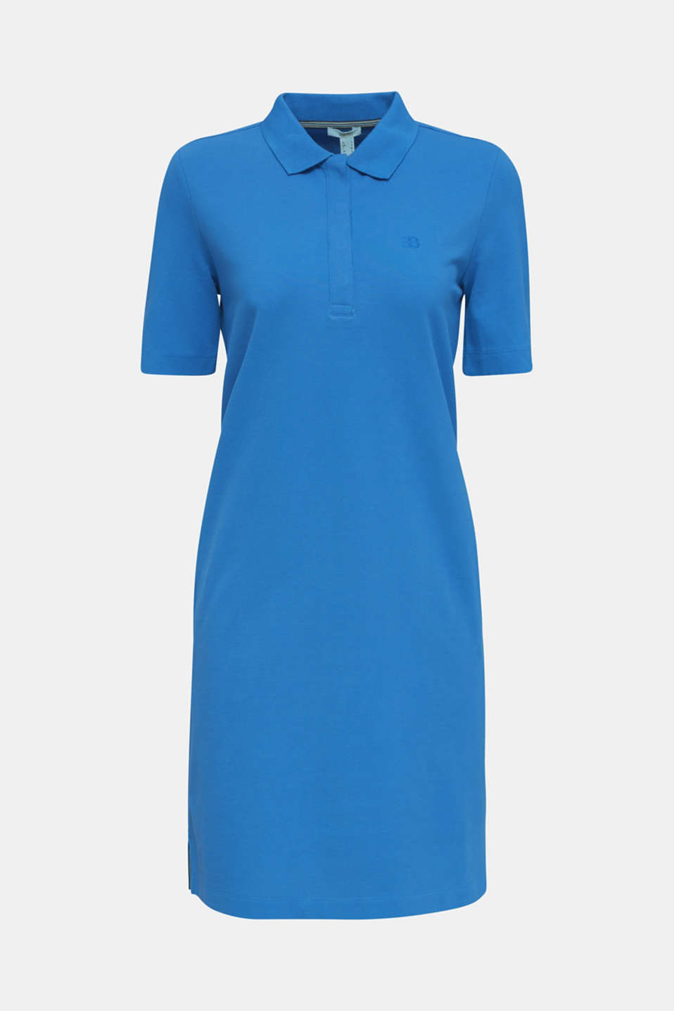 Polo dress made of stretch piqué, BRIGHT BLUE 2, detail image number 7