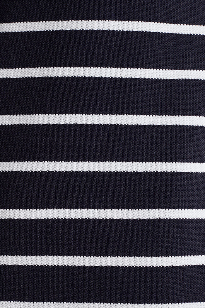 Polo-Kleid aus Piqué-Stretch, NAVY, detail image number 4