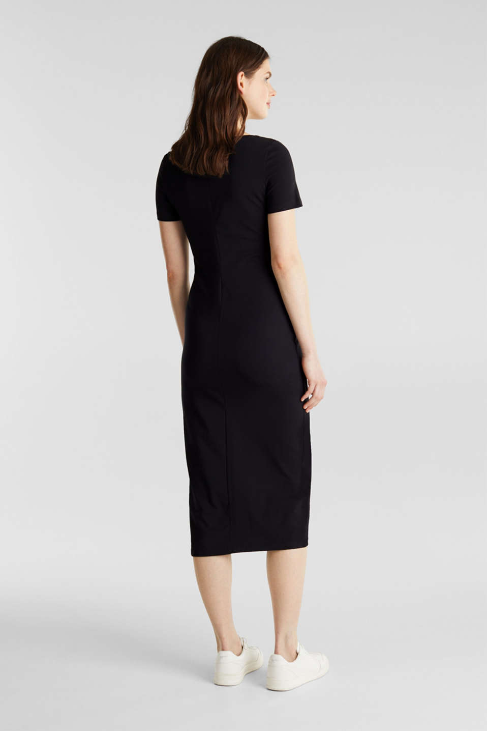 Jersey dress with organic cotton, BLACK, detail image number 2