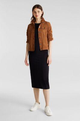 Jersey dress with organic cotton, BLACK, detail