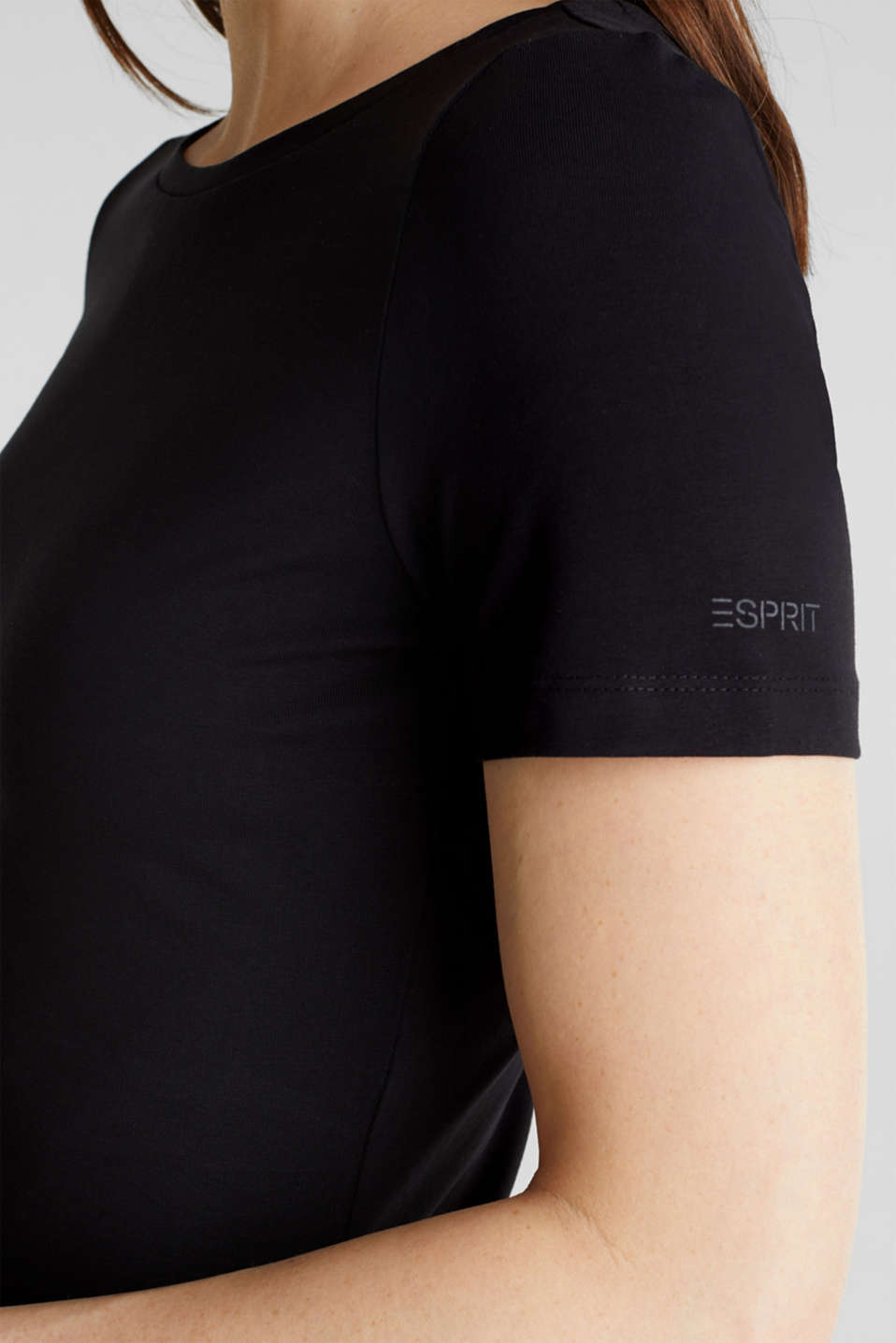 Jersey dress with organic cotton, BLACK, detail image number 3