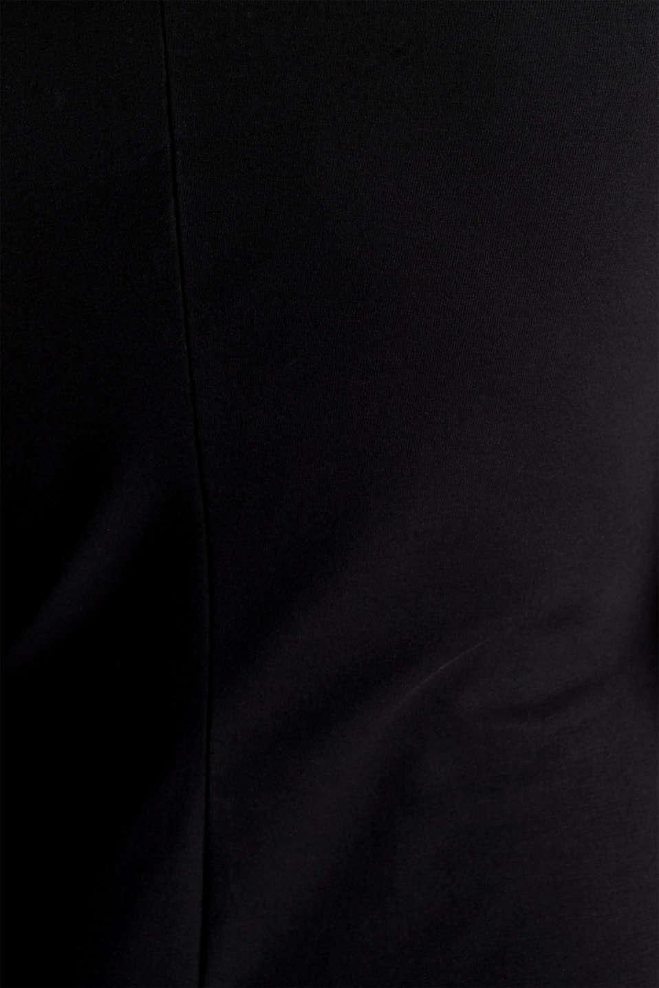 Jersey dress with organic cotton, BLACK, detail image number 4