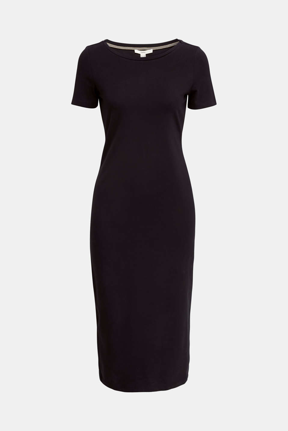 Jersey dress with organic cotton, BLACK, detail image number 5