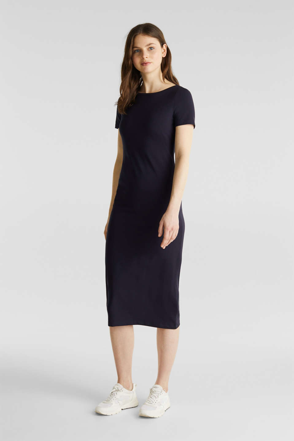 Esprit - Stretch jersey dress with organic cotton