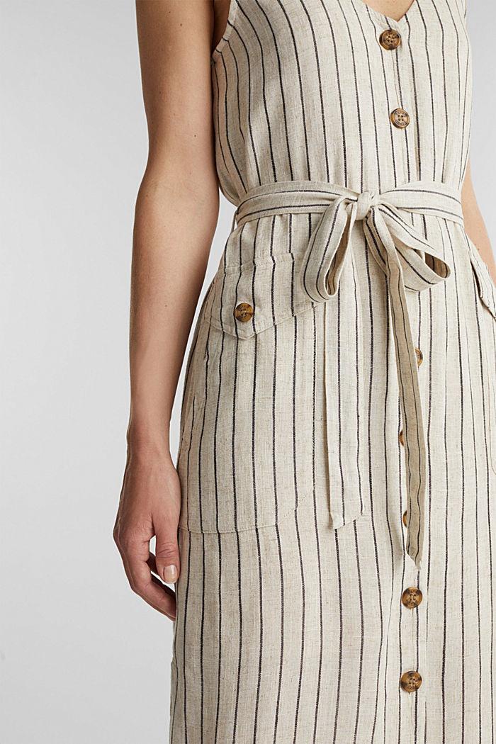 À teneur en lin: la robe fourreau à ceinture, SAND, detail image number 3