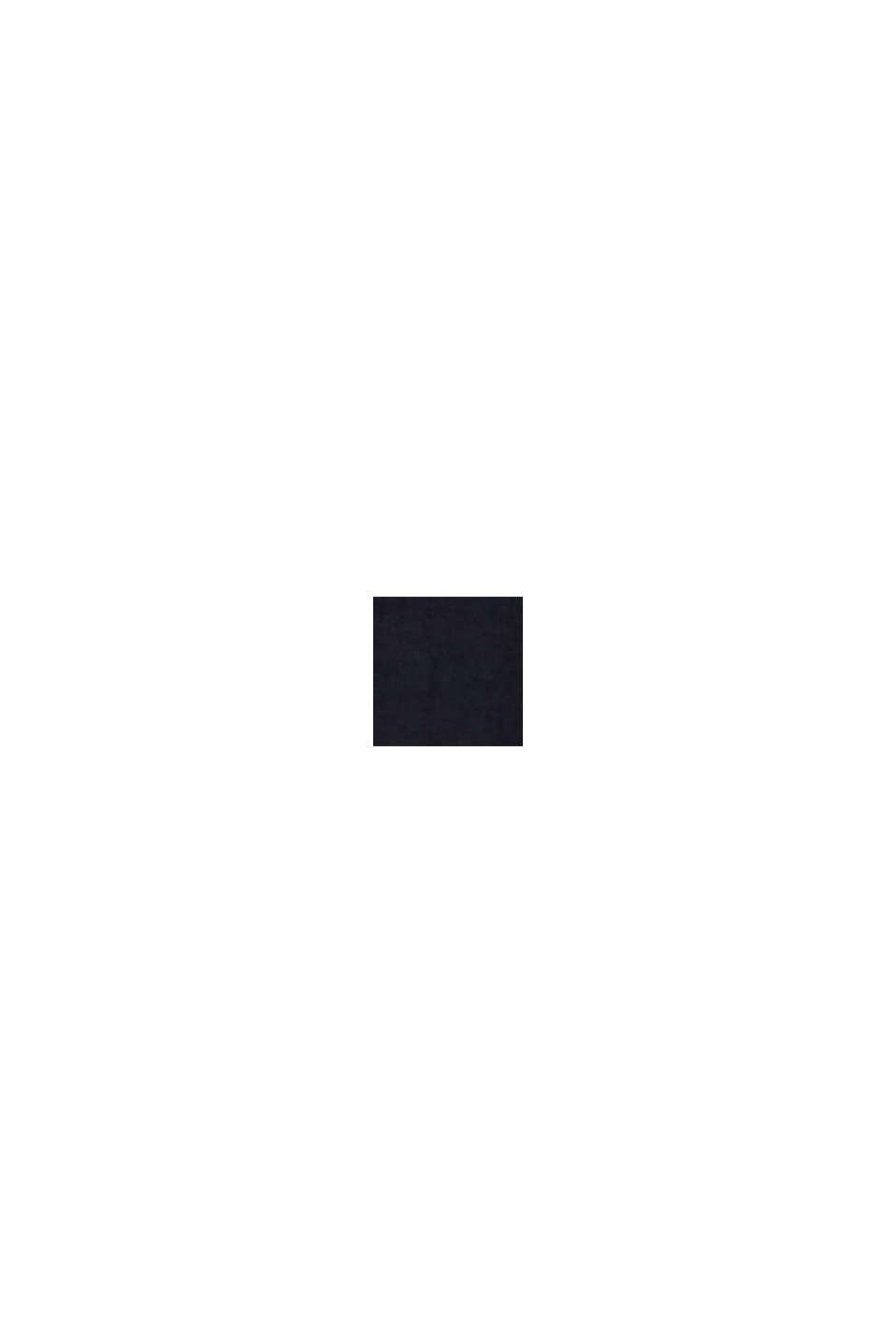 Mezcla de lino: vestido con tira de botones, BLACK, swatch