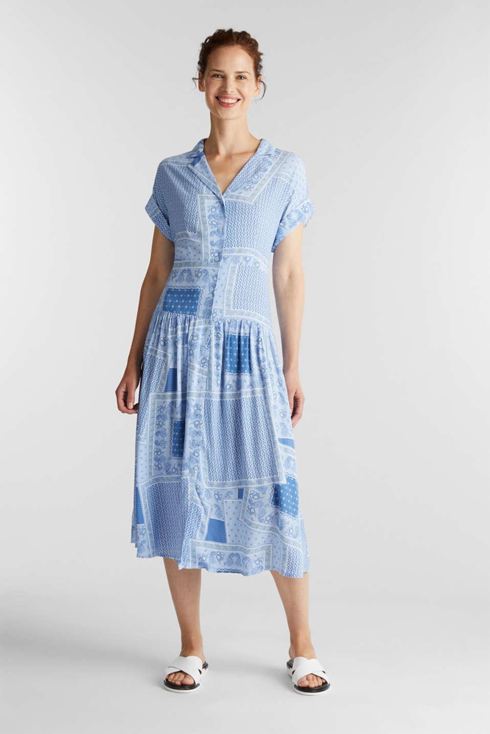 Shirt dress with bandana print, LIGHT BLUE 4, detail image number 1