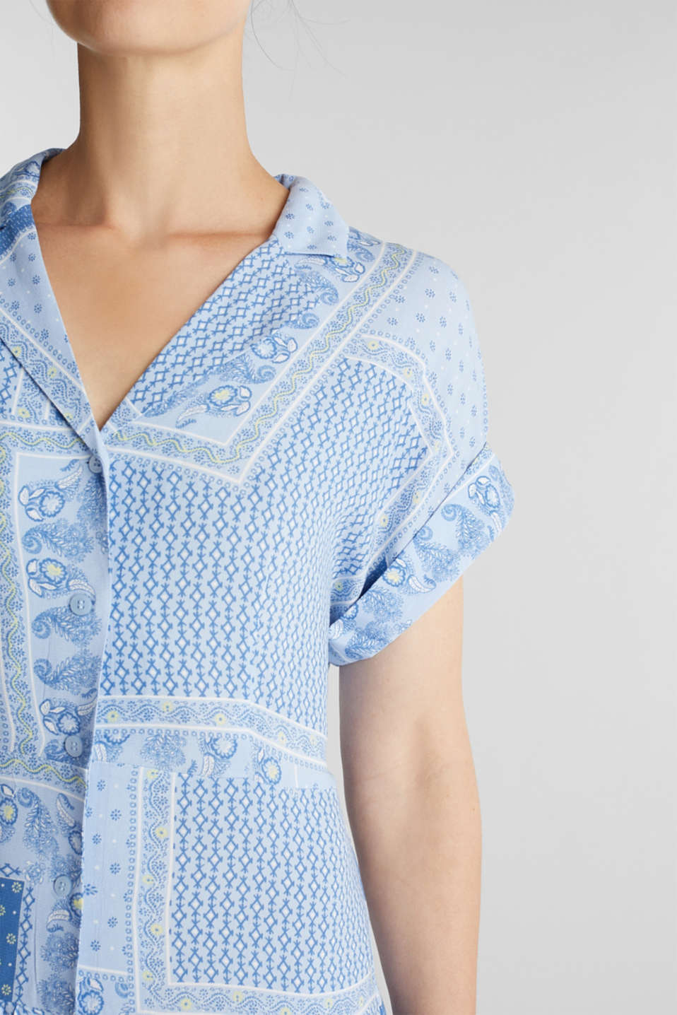 Shirt dress with bandana print, LIGHT BLUE 4, detail image number 3