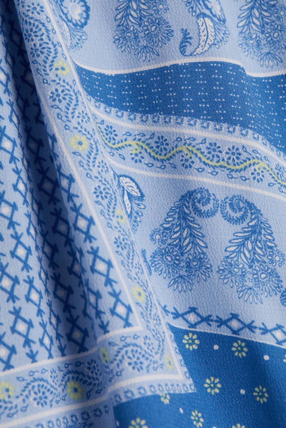 Shirt dress with bandana print, LIGHT BLUE 4, detail image number 4